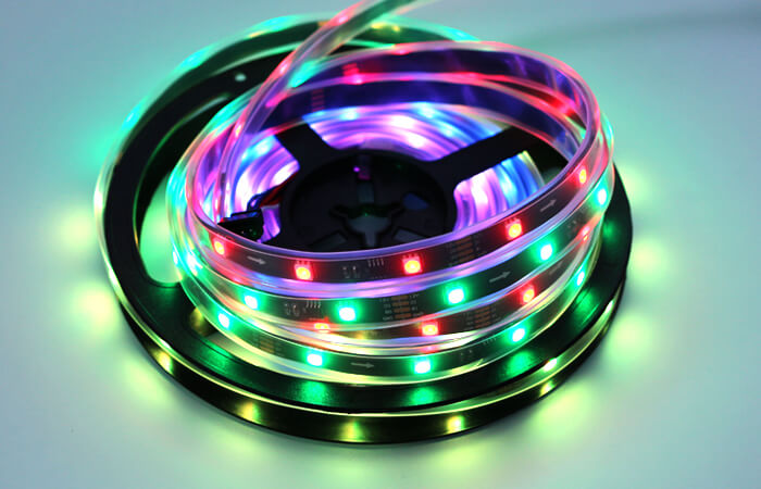 12v rgbw led strip light 30 LED black board