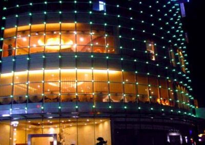 Architectures decorated by DMX512 pixel LED strip
