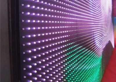 Background Wall Panel by Programmable LED String Lights