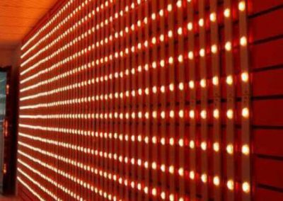 Background wall by RGB led pixel matrix