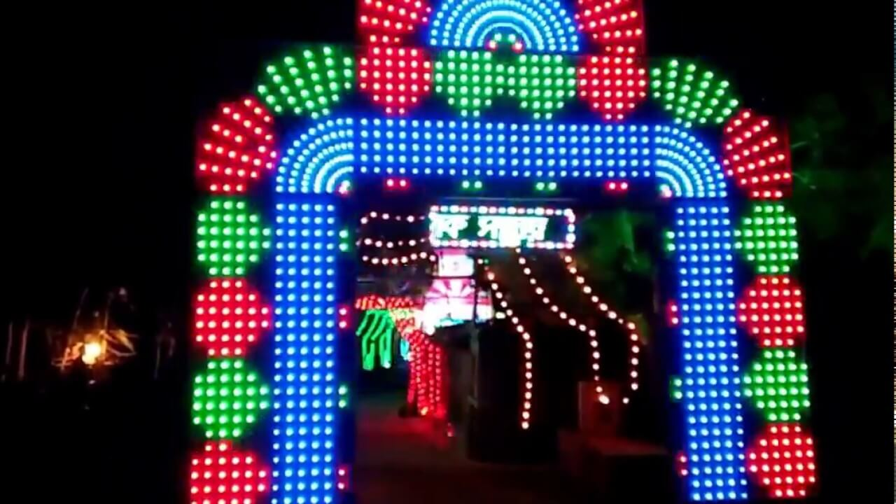 RGB pixel lights for Gate Decoration