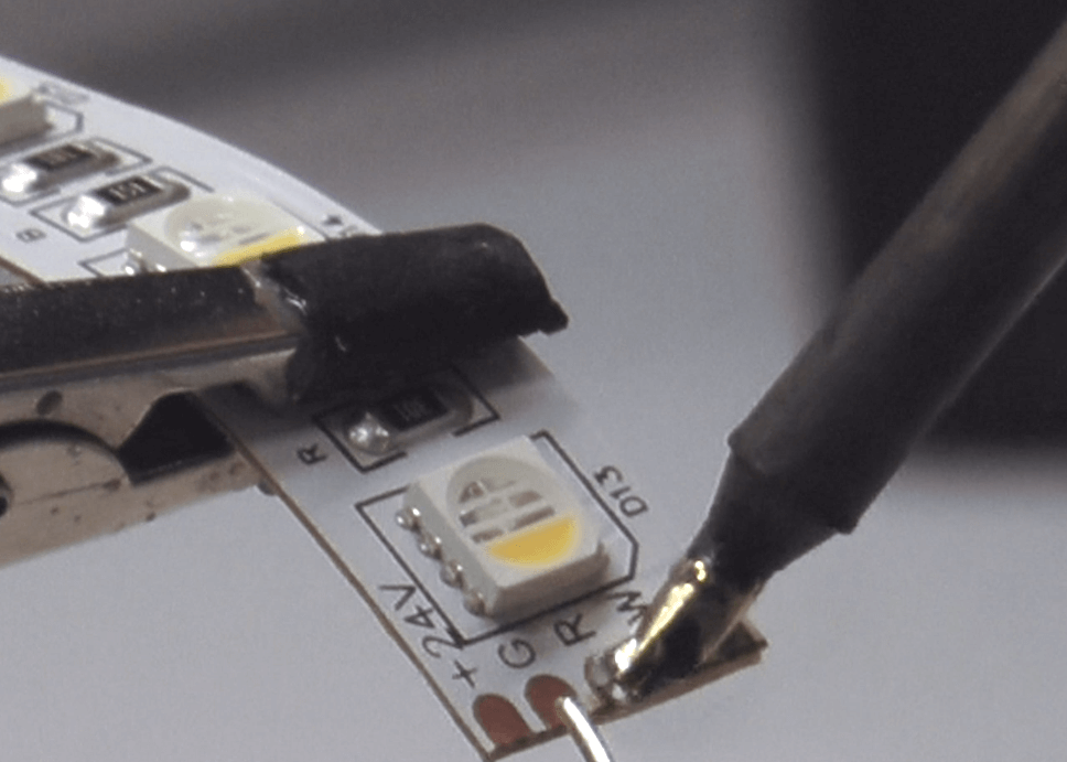 Adding Solder to The Cooper Pads of WS2811 strips