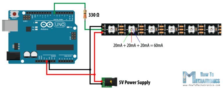 Controlling WS2813 LED Strip