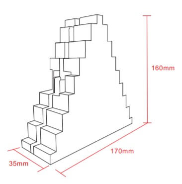 Dimensions of Triangle LED Panel