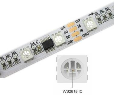 Representative LED Controller Chip WS2818 in WS2818 LED Strip