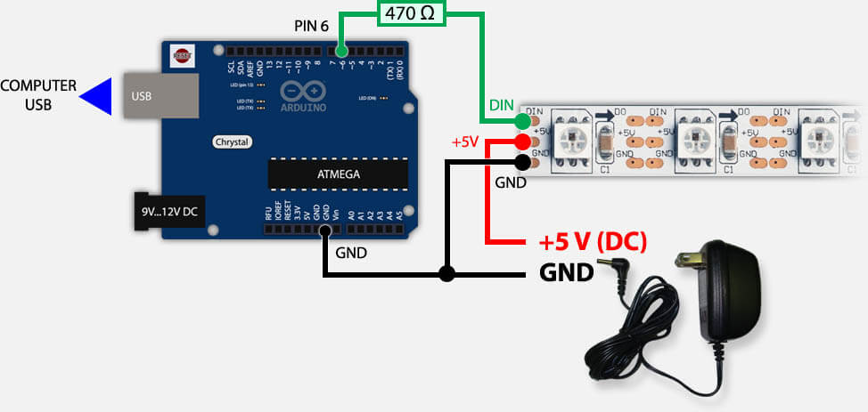 Power Supply for WS2813 & WS2812B