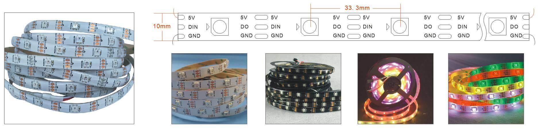 WS2812B 30 LED per meter Strip