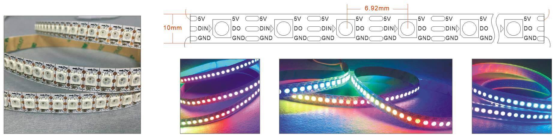 WS2812B 144 LED per meter Strip