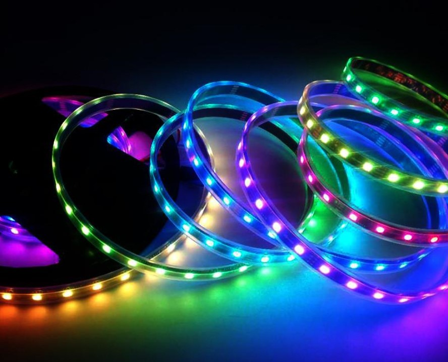 Different Lights Produced by RGB LED Strip WS2818