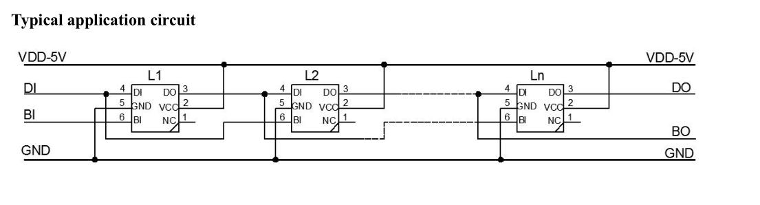Wire WS2813 BI and DI together