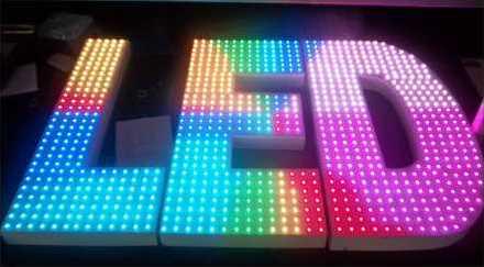 LED Signage by Addressable LED String Light