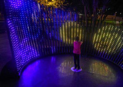 Park landscape by RGB pixel LED