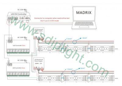 madrix addressable led strip wiring diagram