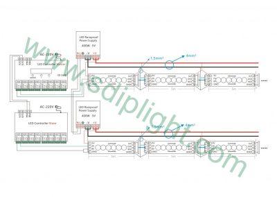 offline led strip wire diagram
