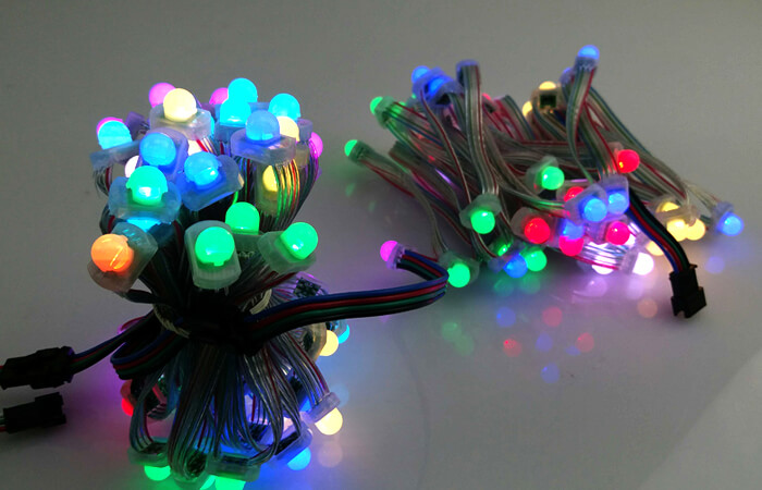 programmable dmx512 led pixel string lights