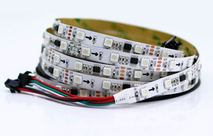 programmable led strip ws2818 white pcb board