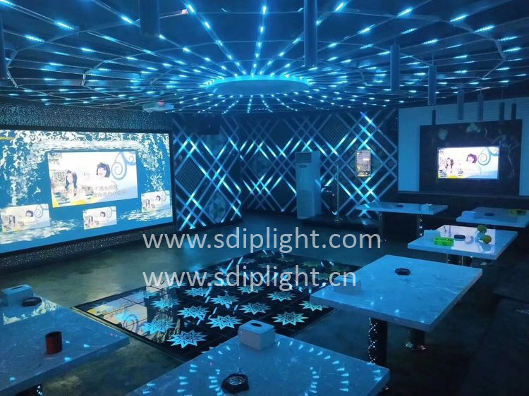 ktv lighting project by flexible ws2811 led strip