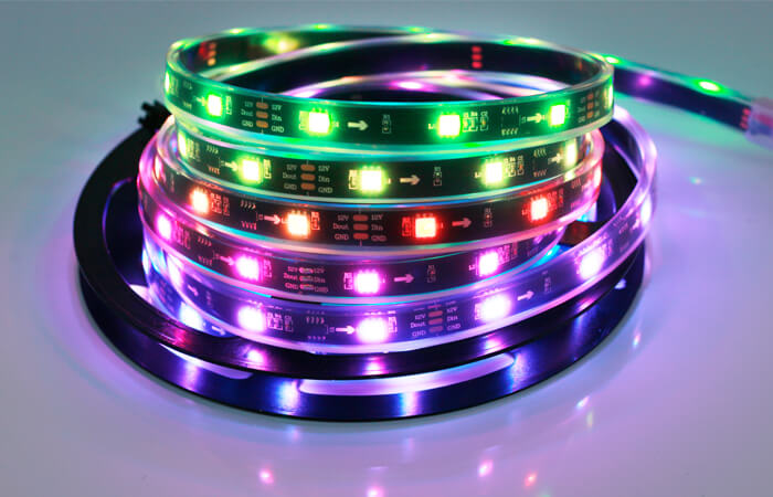 ws2811 led strip 30led black pcb board