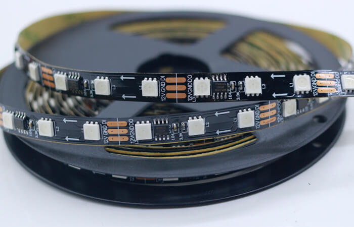 ws2811 led strip black pcb