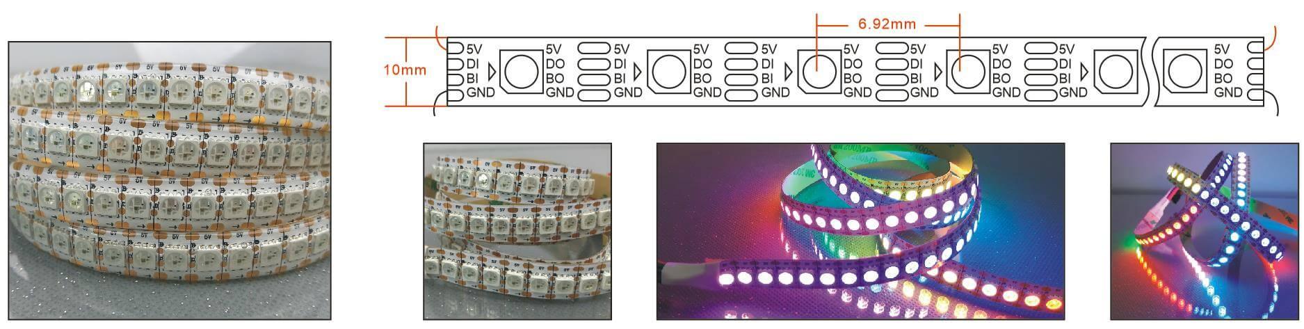 ws2813 addressable strip 144 LED per meter
