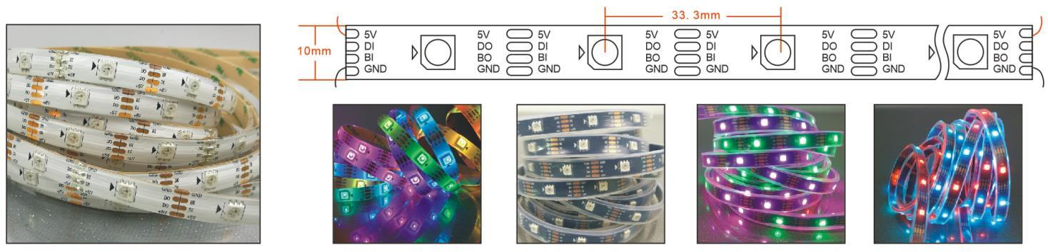 ws2813 programmable led strip 30 LEDs diagram