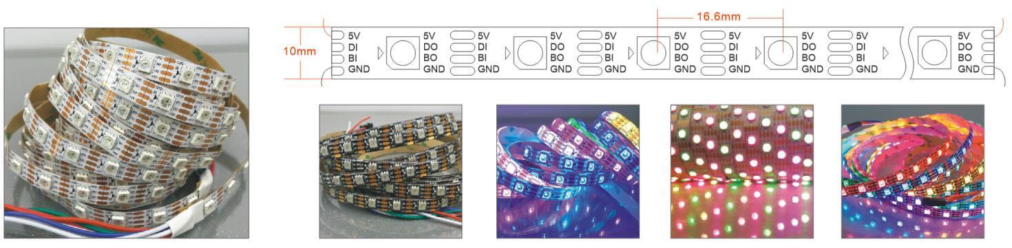ws2813 rgbw led strip light 60LEDs