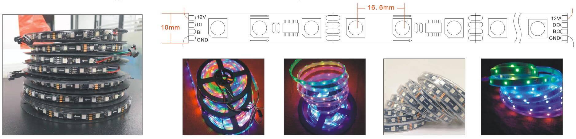 ws2818 led strip 60 LEDs per meter