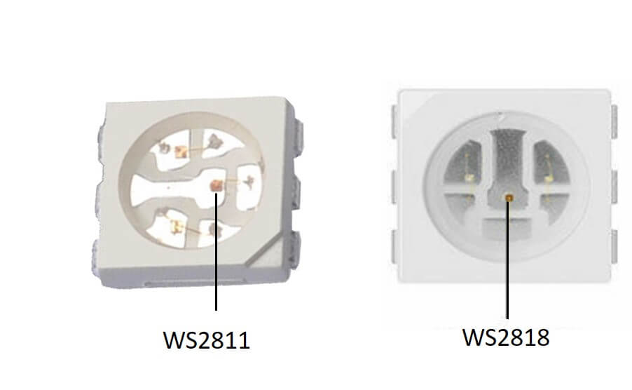 WS2811 and WS2818 IC in RGB LED Tubes