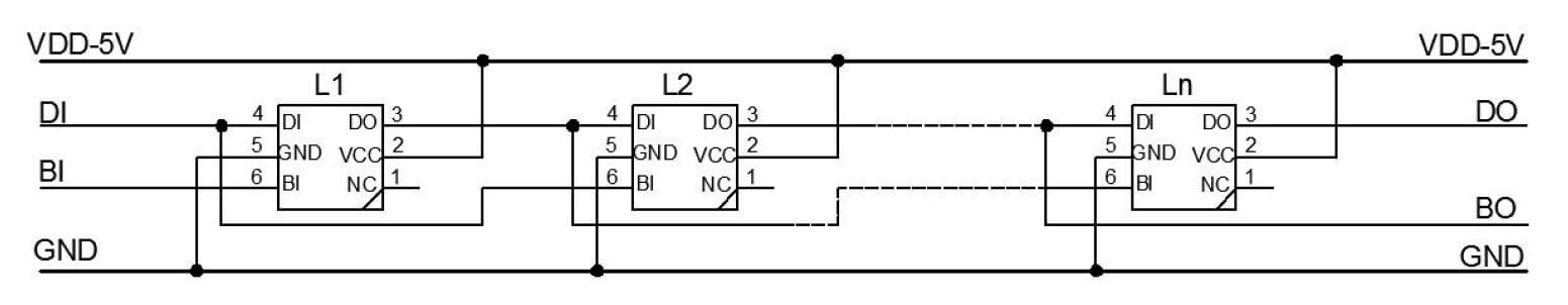 WS2813 Wiring Diagram