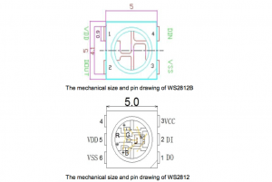 Comparison of mechanical properties of WS2812B and WS2812