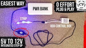 Powering a 12V RGB LED strip with USB