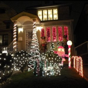 Outdoor Application of LED Light Strips - House and Trees
