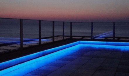 IP65 Rated LED strip mounted in outdoor settings