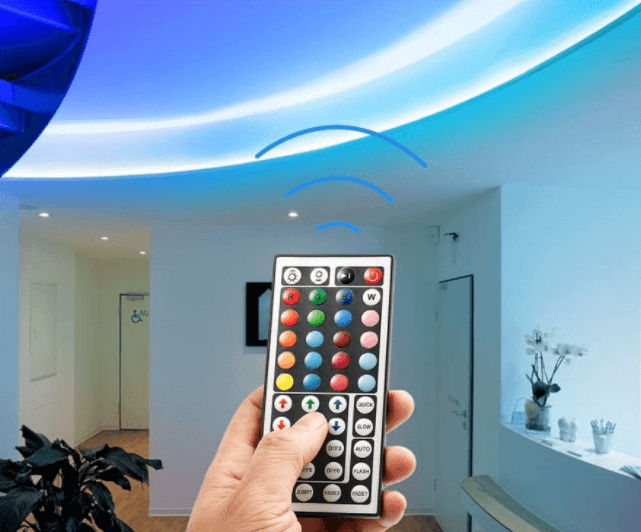 Dim adjusted IP65 LED strips by way of remote control