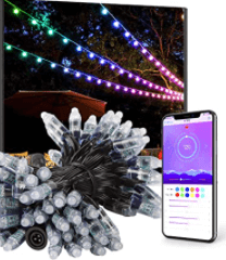 Smartphone controlled string lights