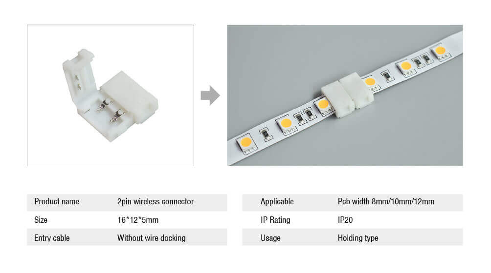 Rigid LED Strip connectors