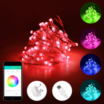 Voice Controlled Smart Outdoor String Lights
