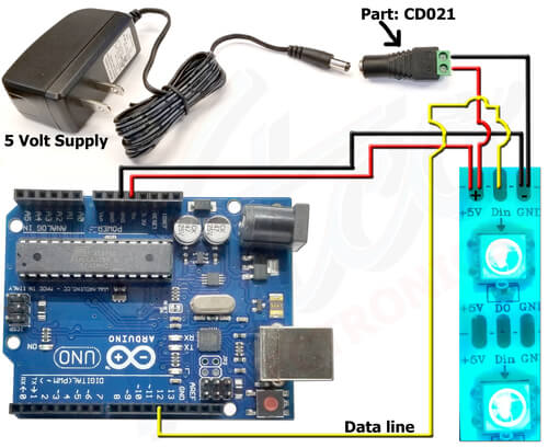 Connecting ARGB with Arduino