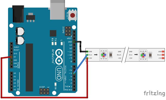 Arduino Powering WS2812B