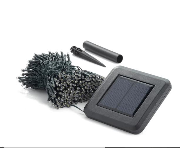 Solar powered LED string lights