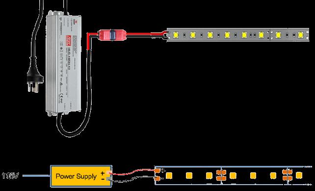 Installing LED tape under cabinet lighting