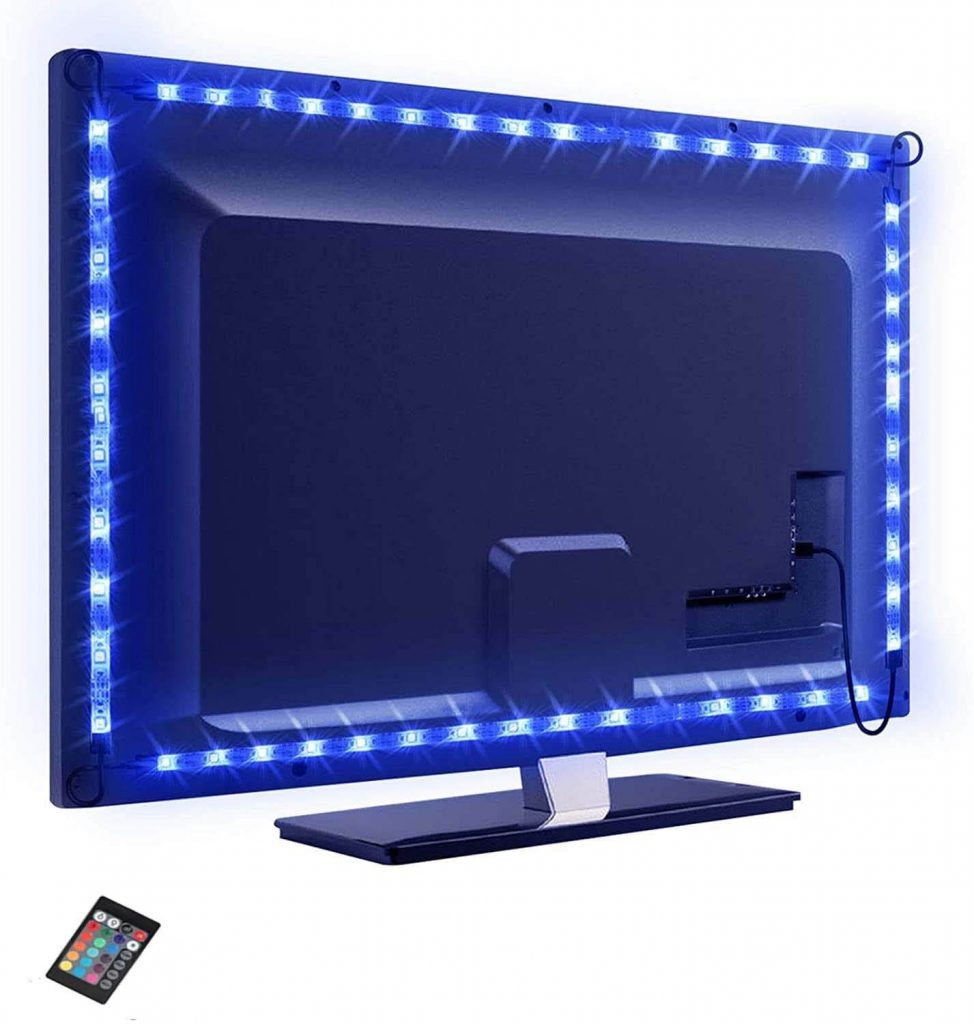 Stick your flexible LED tape to TV