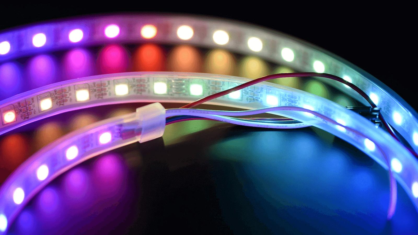 RGB LED tape light uses