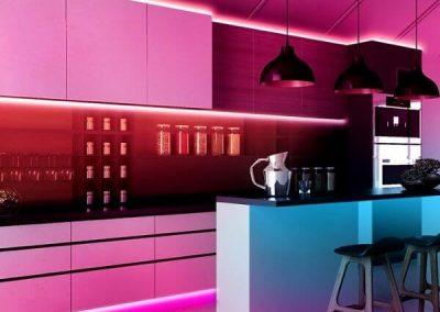 LED Tape Under Cabinet Lighting For Kitchen Decor