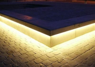 LED Tape Under Cabinet Lighting For Outdoor Benches